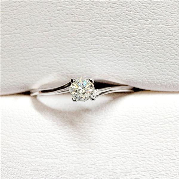 10K WHITE GOLD DIAMOND (S-I, H-I)(0.21CT) RING