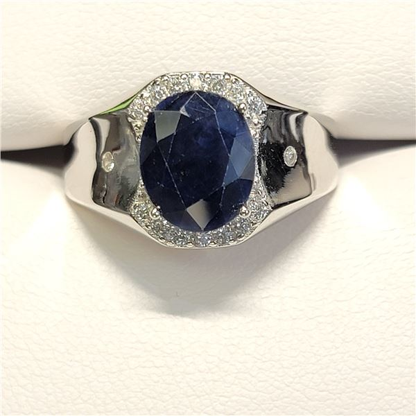 SILVER SAPPHIRE(4.15CT) RING