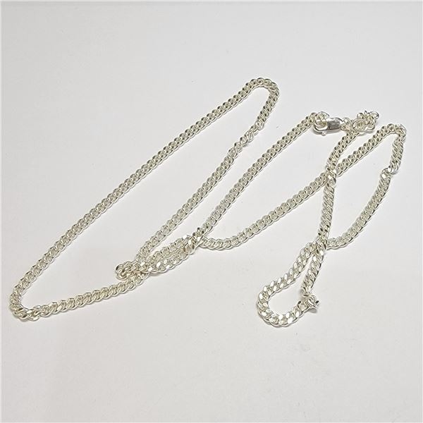 SILVER NECKLACE (~LENGTH 24INCHES)