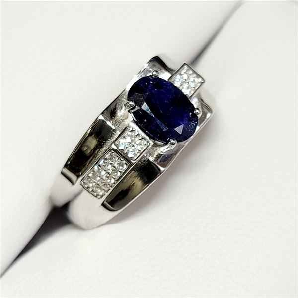 SILVER SAPPHIRE(3CT) STERLING SILVER
