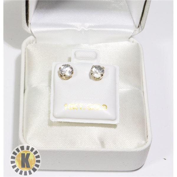 10K YELLOW GOLD WHITE ZIRCON(1.6CT)