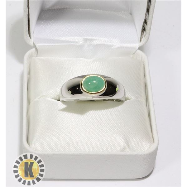 SILVER EMERALD(1.3CT) RING