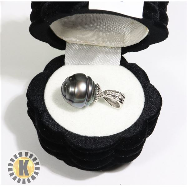 SILVER GENUINE TAHITION PEARL 12-33MM AND CZ