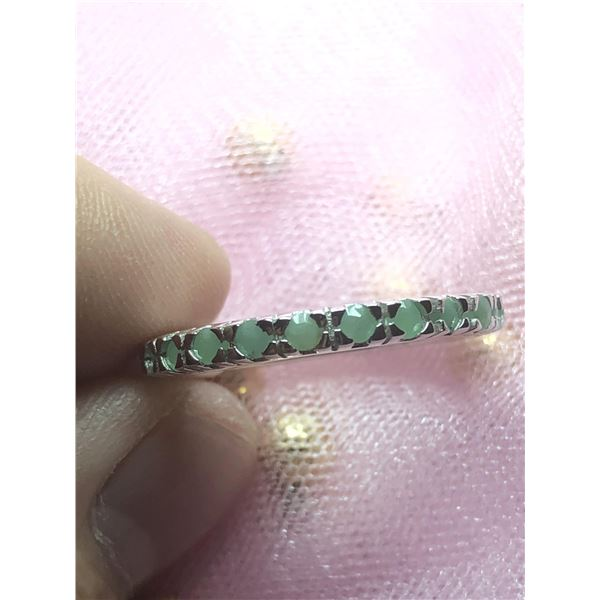SILVER EMERALD(1.2CT)  RING