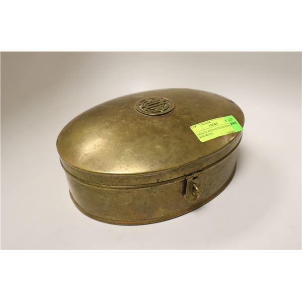 ORNATE ASIAN STYLE KEEPSAKE BOX METAL