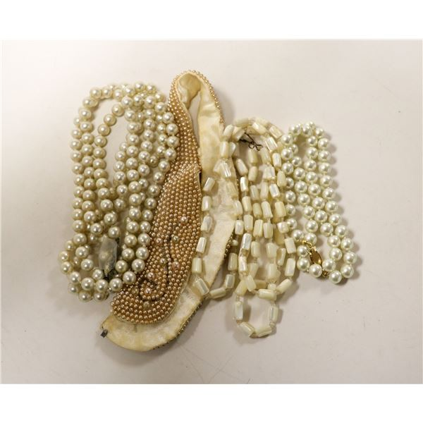 SELECTION OF PEARL STYLE NECKLACES MADAME RAC