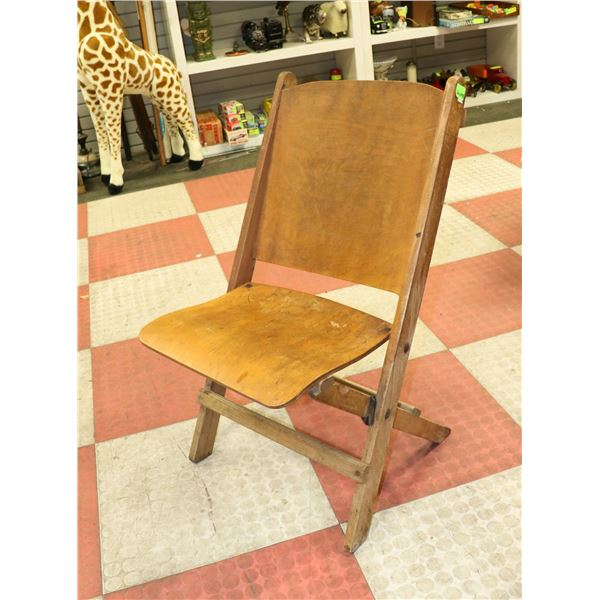 ANTIQUE WOODEN FOLDING SIDE CHAIR