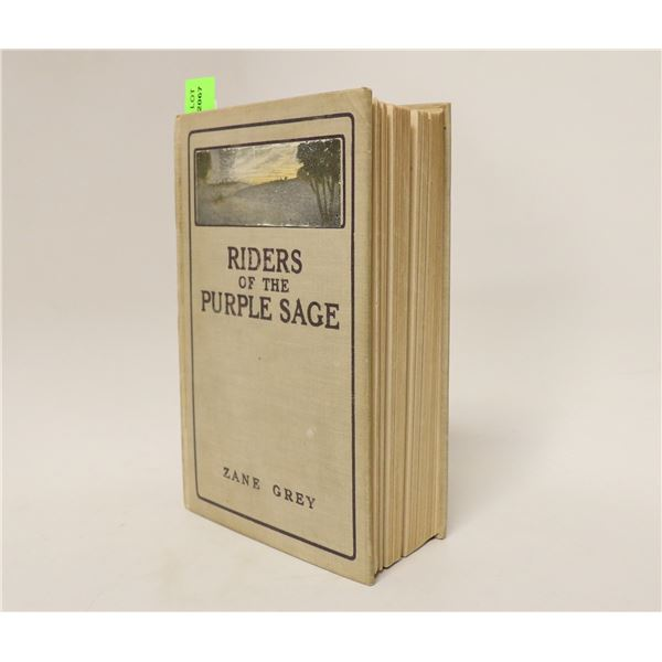 1918 ZANE GREY RIDERS OF THE PURPLE SAGE BOOK