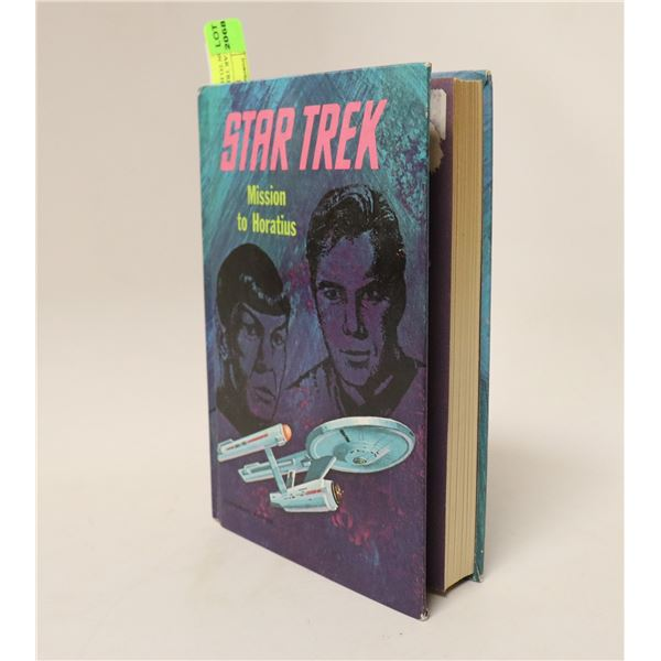 1968 STAR TREK HARD COVER BOOK MISSION TO HOATIUS