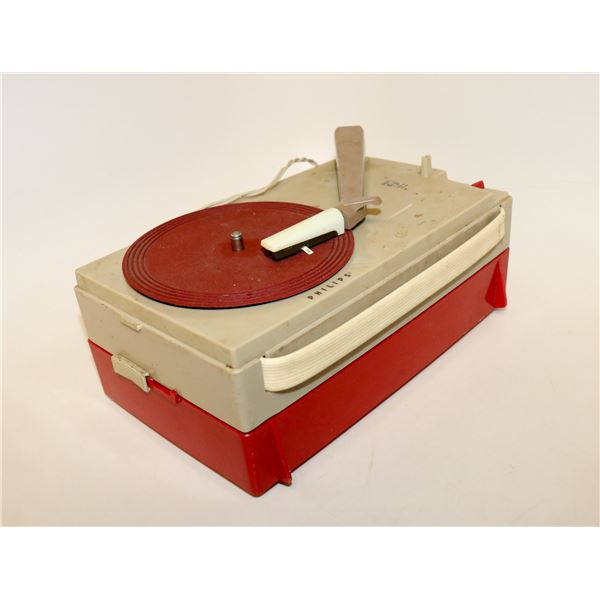 1960S PHILLIPS TRANSISTOR PORTABLE RECORD PLAYER