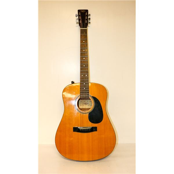 VINTAGE TRADITION ACOUSTIC GUITAR WITH CASE