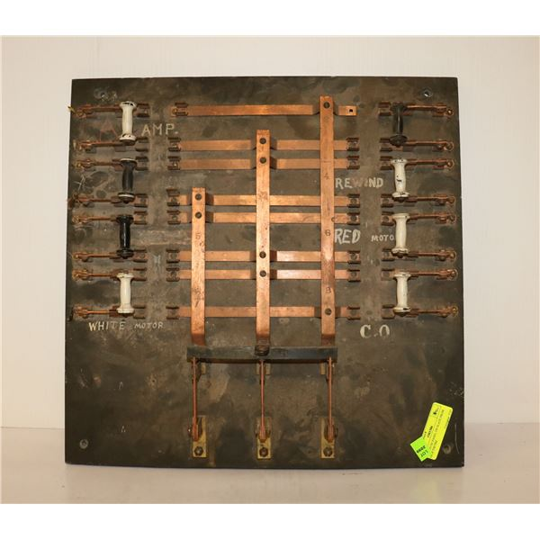 1900S FUSE PANEL ON SLATE FROM GEM THEATRE