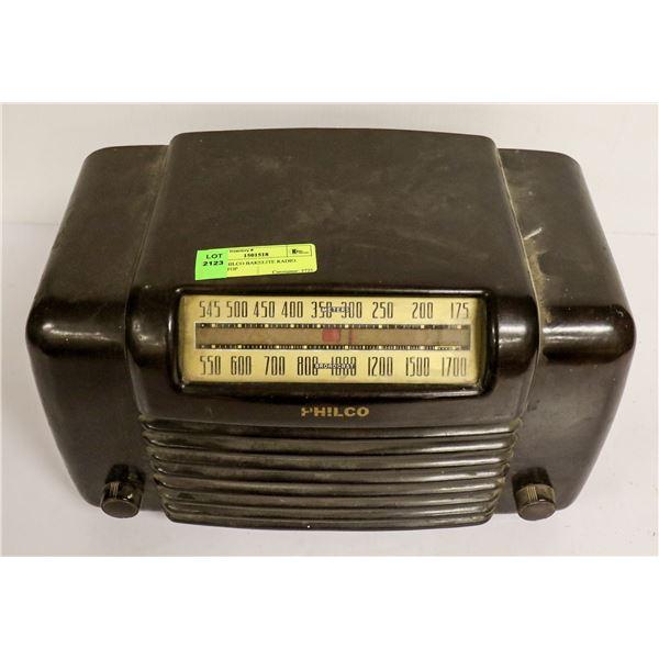 1940S PHILCO BAKELITE RADIO TABLE TOP