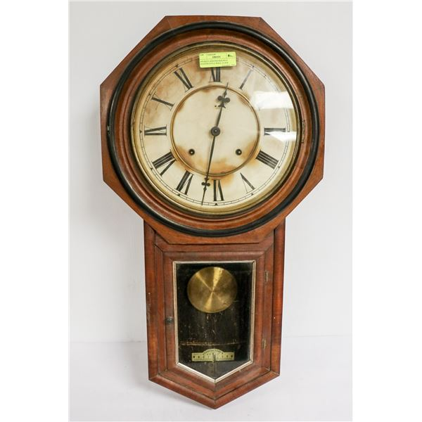 ANTIQUE ANSONIA RAILWAY STATION STYLE WALL CLOCK