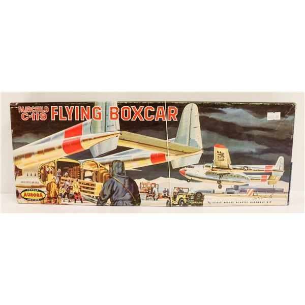 1960S AURORA FLYING BOXCAR AIRPLANE KIT IN BOX