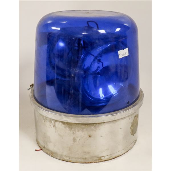 VINTAGE POLICE CAR BEACON LIGHT BLUE