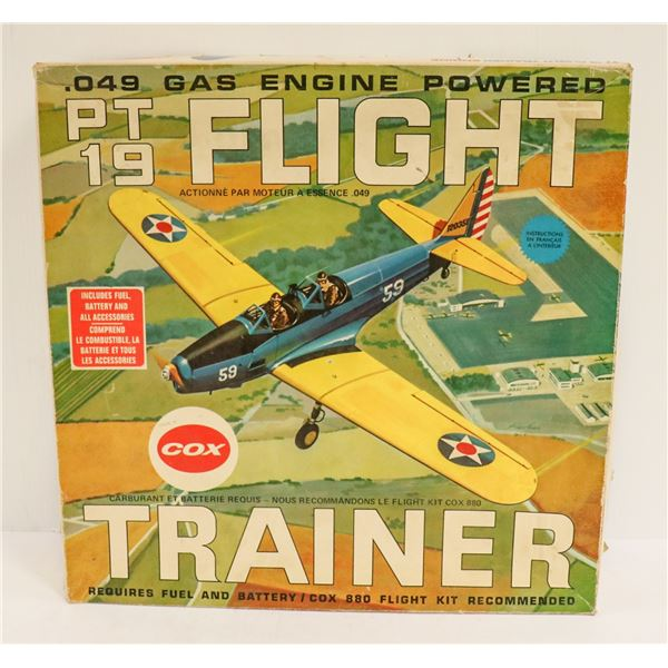 A1969S COX TETHER AIRPLANE IN BOX AS IS