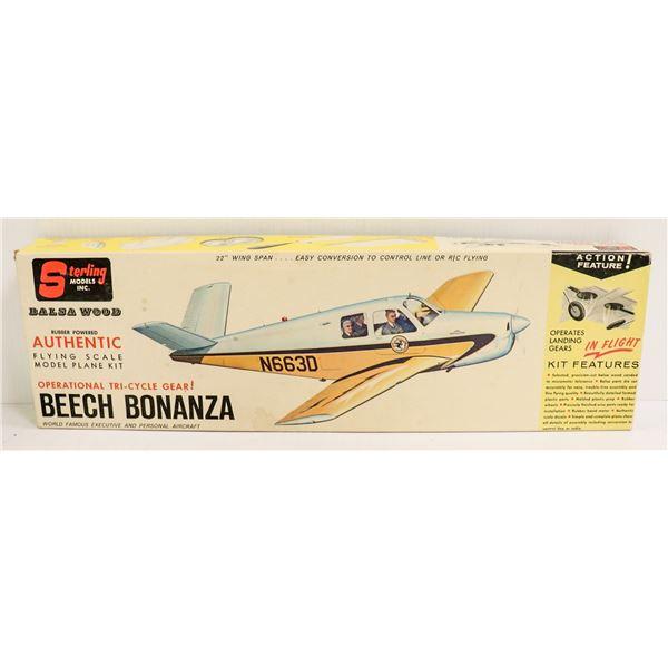 VINTAGE STERLING BEECH BONANZA MODEL KIT IN BOX