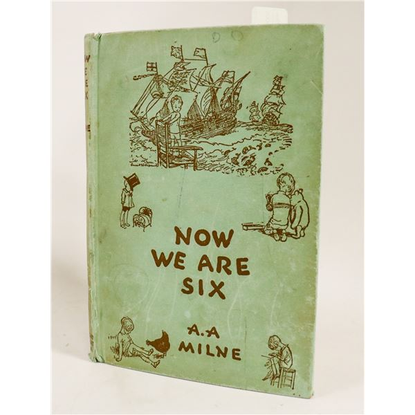 FIRST EDITION 1925 AA MILNE BOOK NOW WE ARE SIX