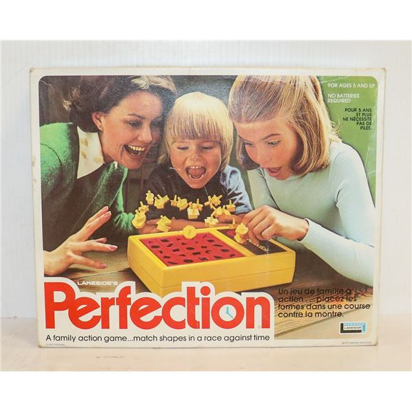 VINTAGE PERFECTION BOARD GAME IN BOX