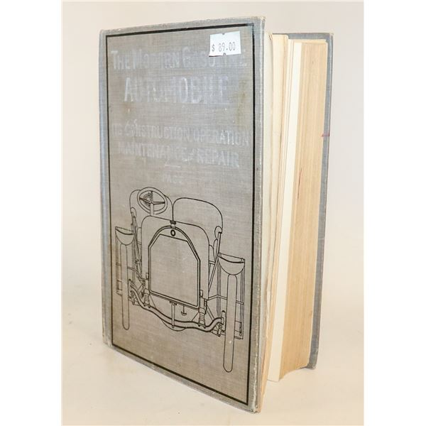 1912 BOOK OF MODERN GASOLINE AUTOMOBILES