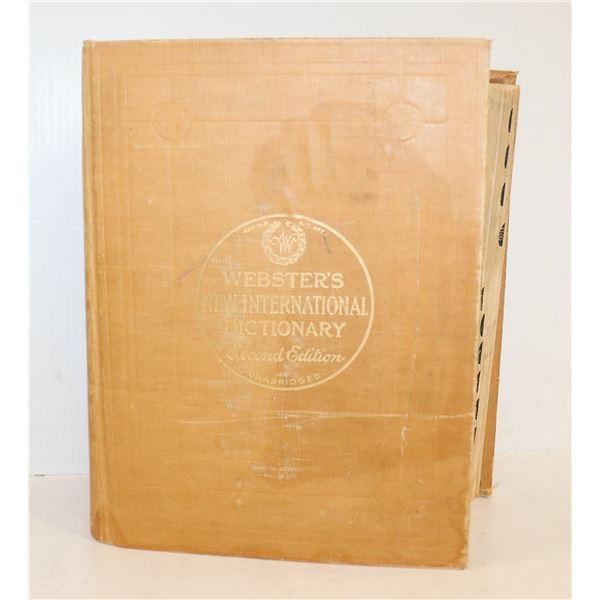 MASSIVE 1957 WEBSTERS UNABRIDGED DICTIONARY