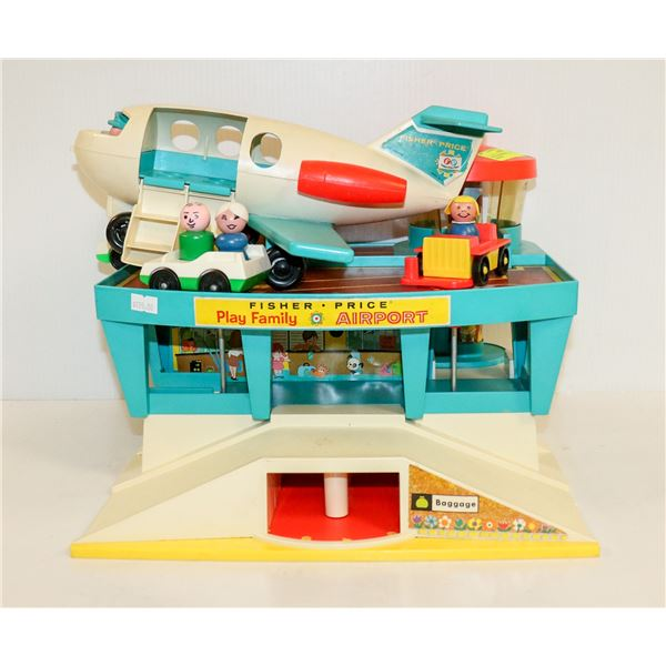 1970S FISHER PRICE LITTLE PEOPLE AIRPORT
