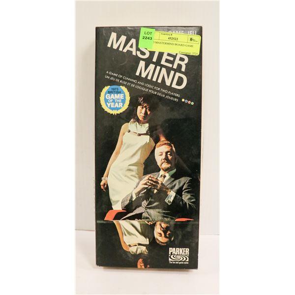 1973 MASTERMIND BOARD GAME