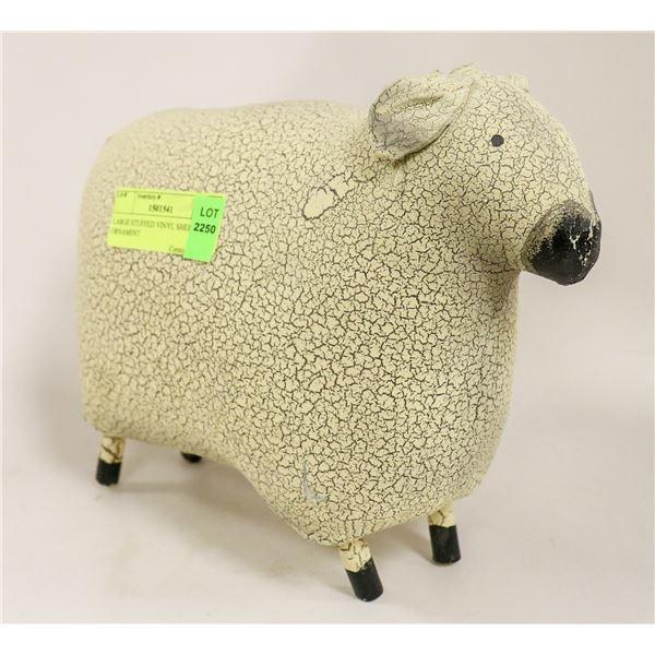 LARGE STUFFED VINYL SHEEP ORNAMENT