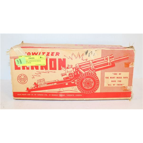 1950S MARX HOWITZER FIRING CANNON IN BOX