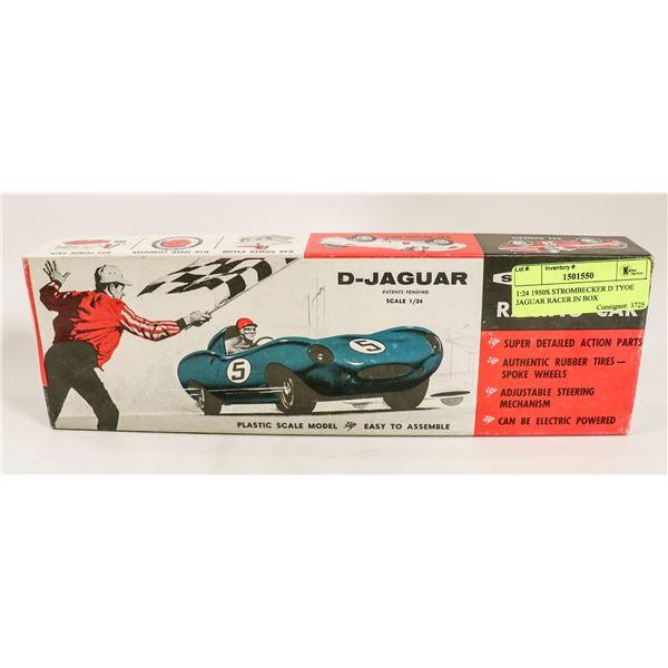 1:24 1950S STROMBECKER D TYPE JAGUAR RACER IN BOX