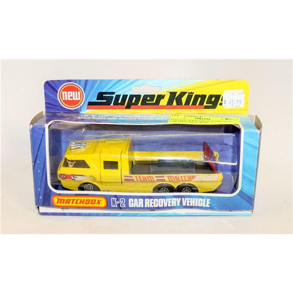 VINTAGE MATCHBOX SUPER KING CAR HAULER IN BOX