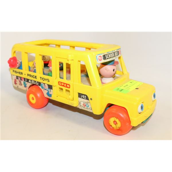 VINTAGE FISHER PRICE SCHOOL BUS WITH FIGURES
