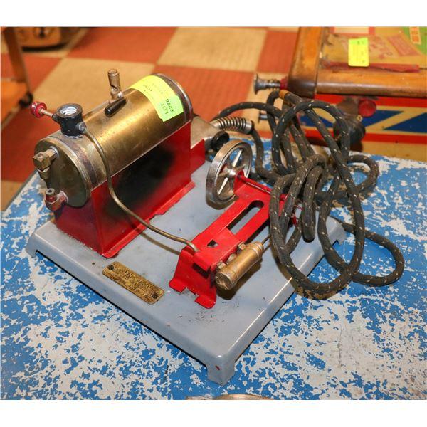 ANTIQUE WEEDEN ELECTRIC STEAM ENGINE SET
