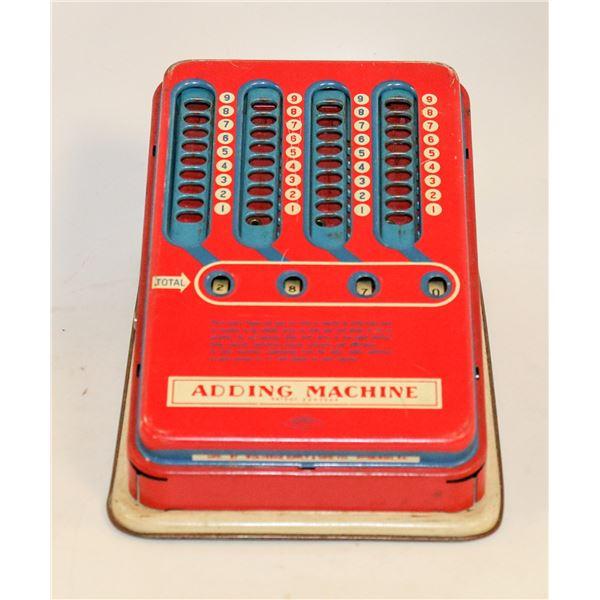 1950S HASBRO CHILDRENS TOY ADDING MACHINE IN BOX