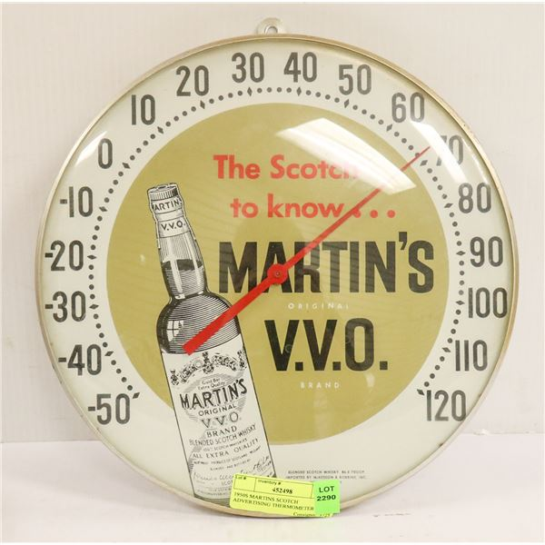 1950S MARTINS SCOTCH ADVERTISING THERMOMETER