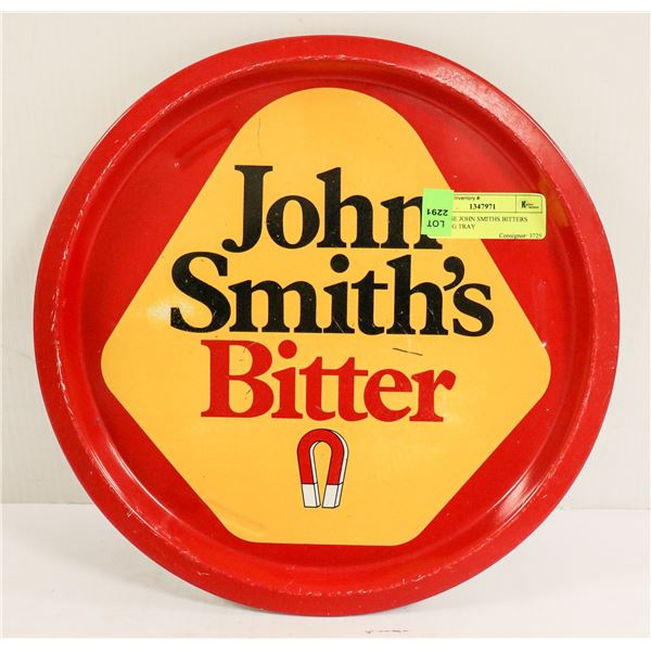 VINTAGE JOHN SMITHS BITTERS SERVING TRAY