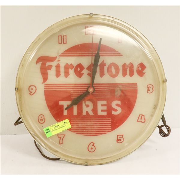 1960S FIRESTONE ADVERTISING CLOCK