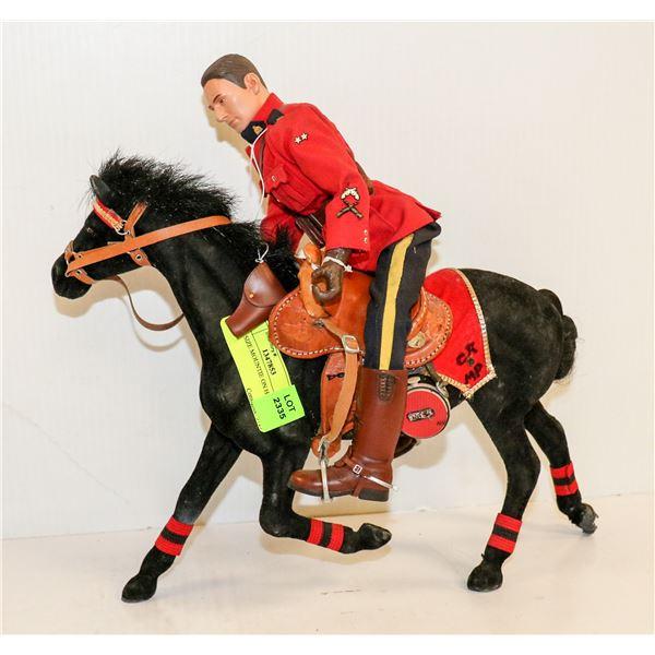 GI JOE SIZE MOUNTIE ON HORSE