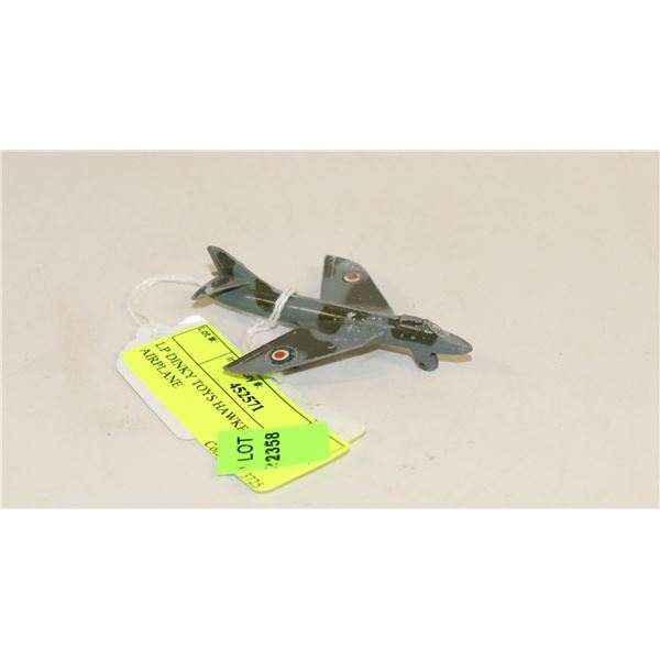 LP DINKY TOYS HAWKER HUNTER AIRPLANE