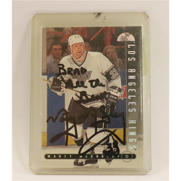 AUTOGRAPHED 1995 MARTY MCSORLEY CARD