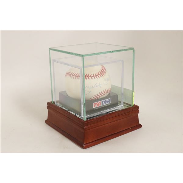AUTHENTIC SIGNED MICKEY MANTLE BASEBALL PSA