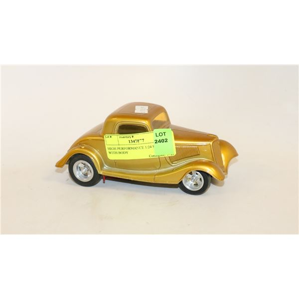 HIGH PERFORMANCE 1:24 SLOT CAR WITH BODY