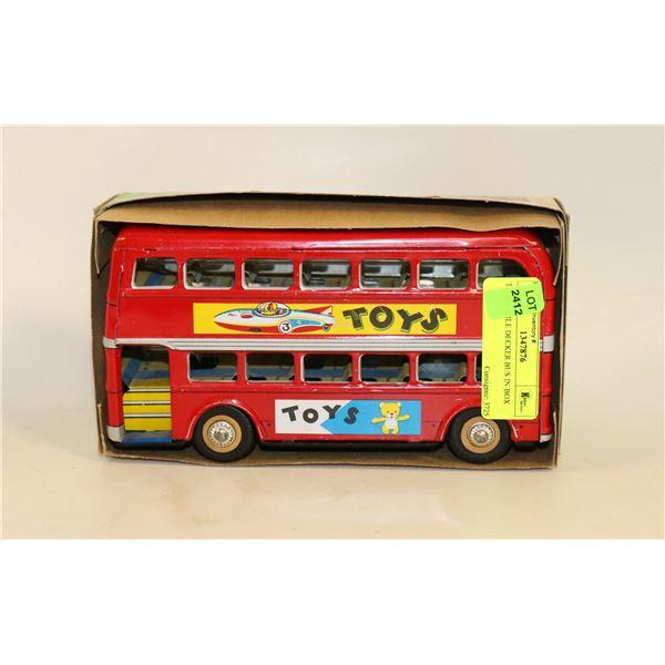 TIN DOUBLE DECKER BUS IN BOX