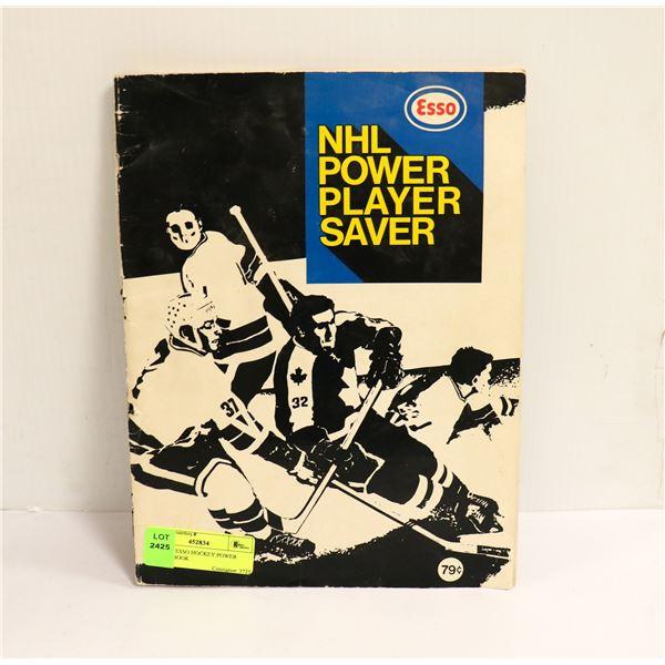 1970 NHL ESSO HOCKEY POWER PLAYER BOOK