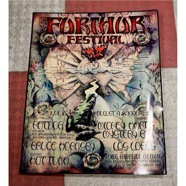 FURTHUR FESTIVAL CONCERT POSTER 1996