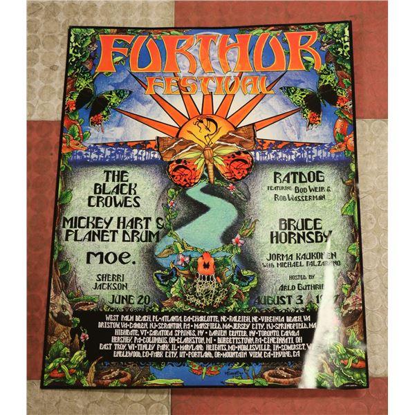 FURTHUR FESTIVAL CONCERT POSTER 1997