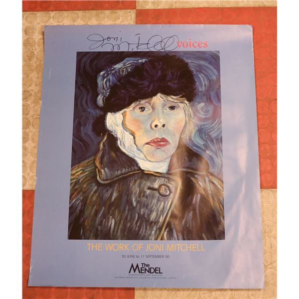JONI MITCHELL SIGNED GALLERY POSTER