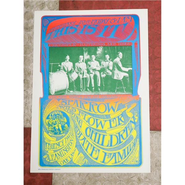1960S PSYCHEDELIC HAPPENINGS CONCERT POSTER