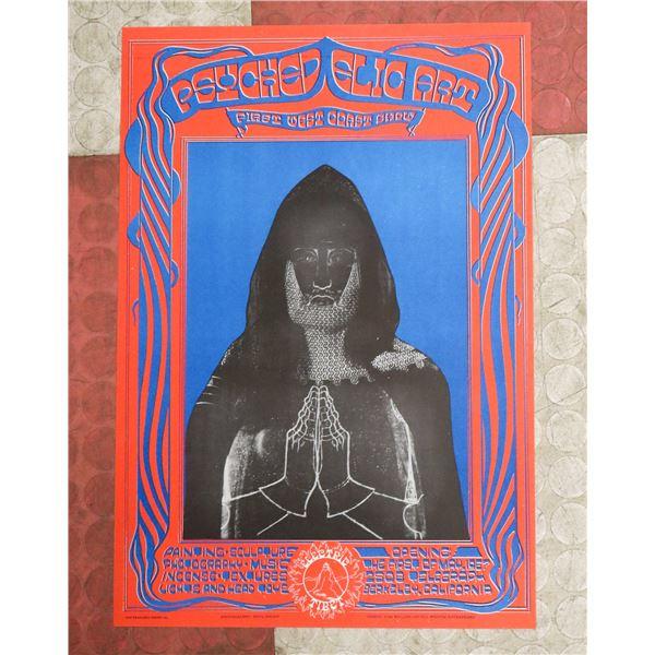 1967 ELECTRIC TIBET BERKELEY CA ART SHOW POSTER
